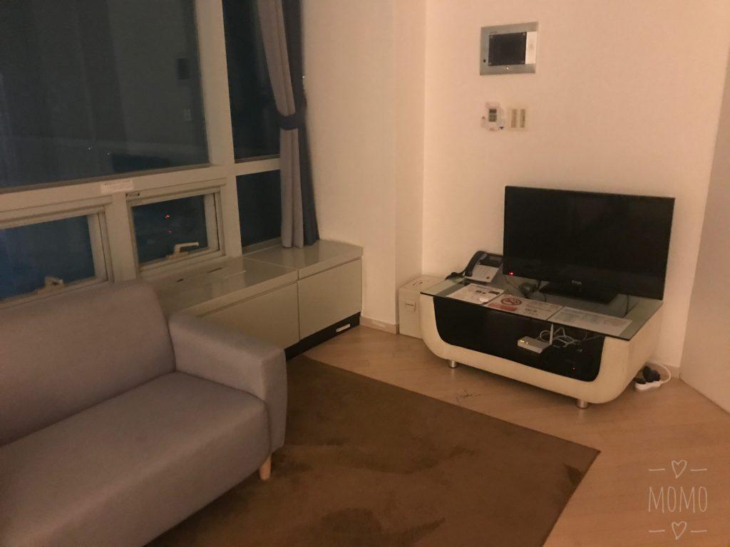 客室のソファースペース