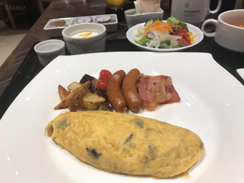 横浜ベイシェラトン 朝食 アメリカンブレックファースト