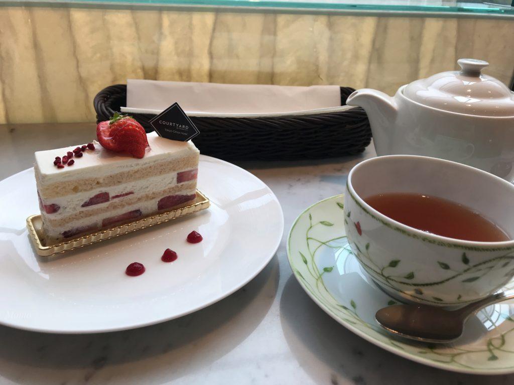 銀座 オアシス ケーキセット