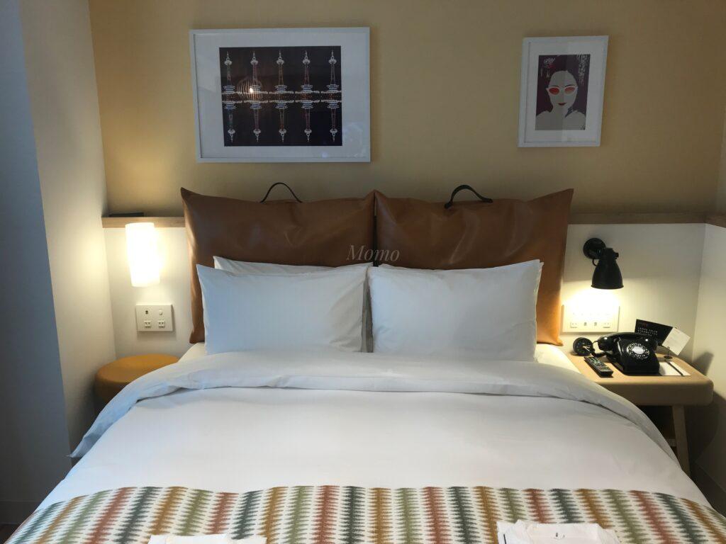 モクシー京都二条 ブログ ベッド