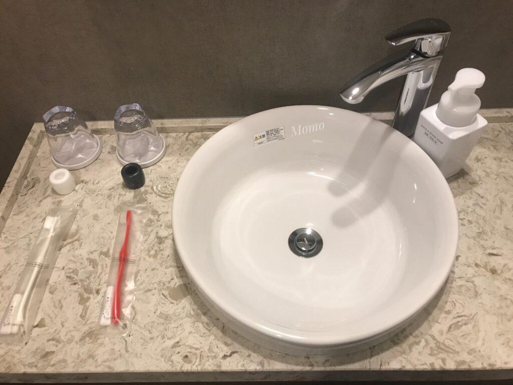 ロイヤルパークキャンバス京都二条 洗面台 歯ブラシ